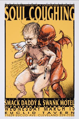 Derek Hess Soul Coughing Poster