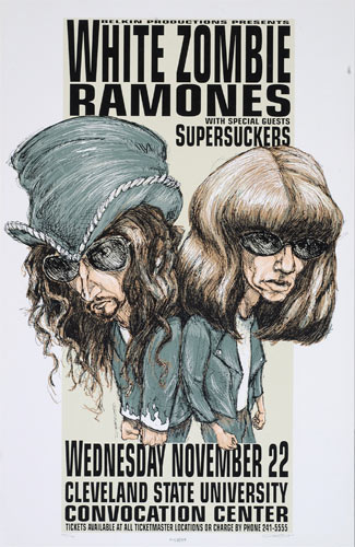 Derek Hess White Zombie / Ramones Poster