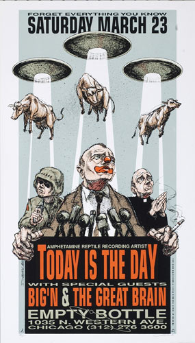 Derek Hess Today Is The Day Poster