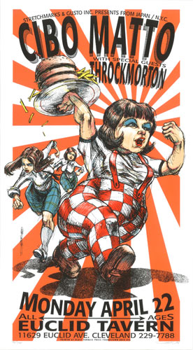 Derek Hess Cibo Matto Poster