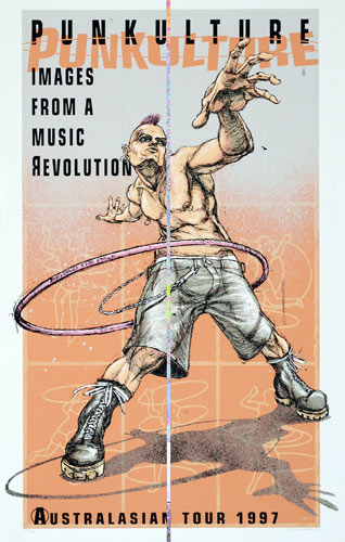 Derek Hess Punkulture - Australasian Tour Poster