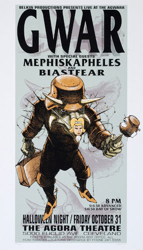 Derek Hess Gwar Poster