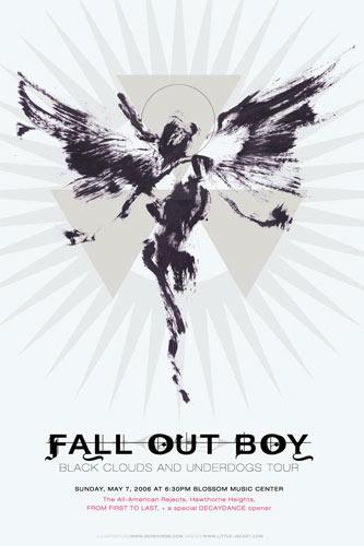 Derek Hess Fall Out Boy Poster