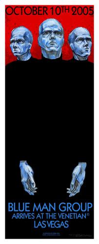 Derek Hess Blue Man Group Poster