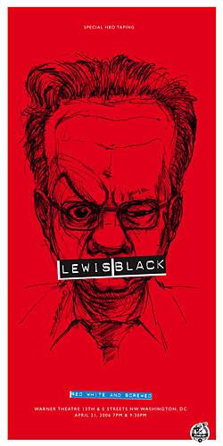 Derek Hess Lewis Black Poster