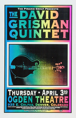 Jeff Holland David Grisman Quintent Poster