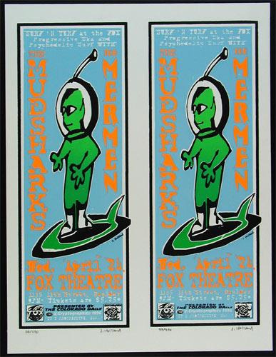 Jeff Holland Mudsharks Poster Uncut Sheet
