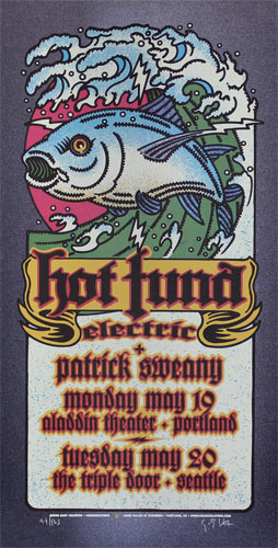Gary Houston Hot Tuna Electric Poster