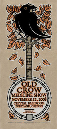 Gary Houston Old Crow Medicine Show Poster