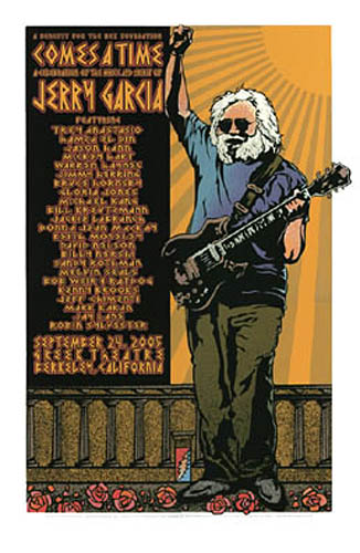 Gary Houston Comes A Time Jerry Garcia Memorial Poster