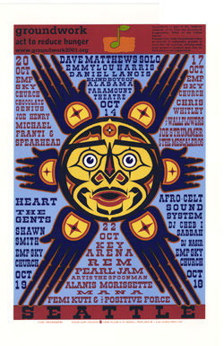Gary Houston Groundwork: Pearl Jam Poster