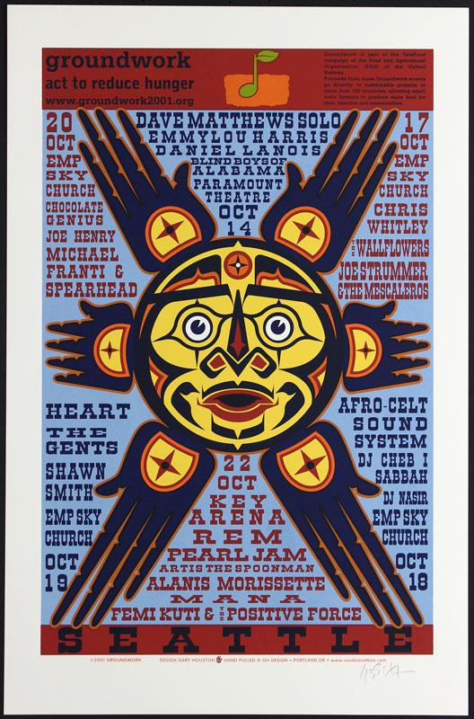 Gary Houston Groundwork: Pearl Jam Poster