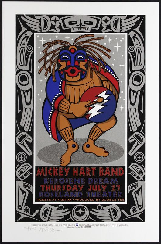 Gary Houston Mickey Hart Band Poster