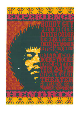 Gary Houston Jimi Hendrix Poster