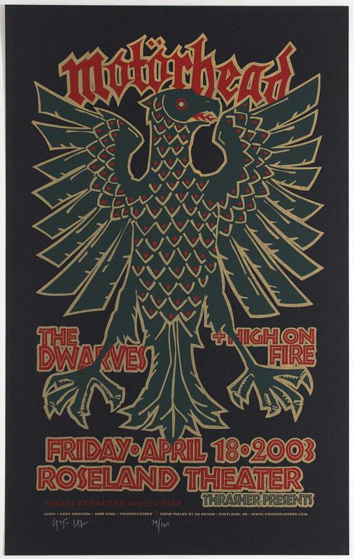 Gary Houston Motorhead Poster