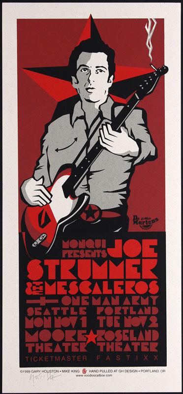 Gary Houston Joe Strummer And The Mescaleros Poster
