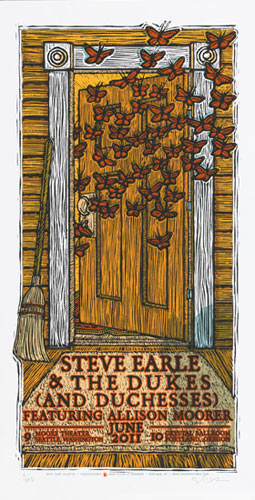 Gary Houston Steve Earle and the Dukes Poster