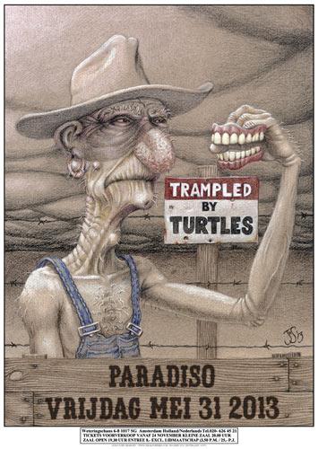 John Seabury Trampled By Turtles Poster
