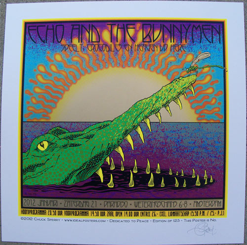 Chuck Sperry Echo and the Bunnymen Poster