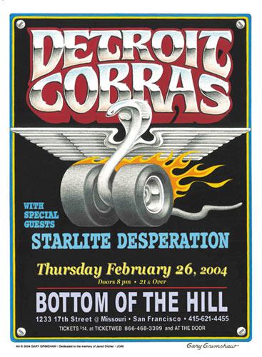 Gary Grimshaw Detroit Cobras Poster