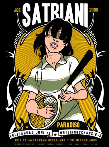 Scrojo Joe Satriani Poster