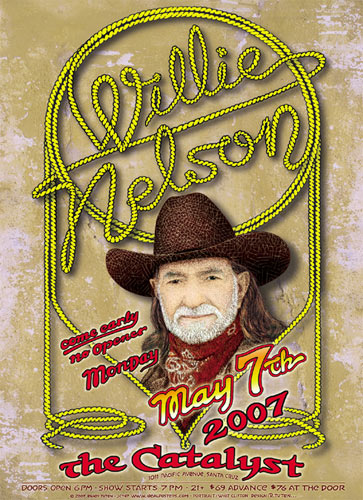 Randy Tuten Willie Nelson Poster