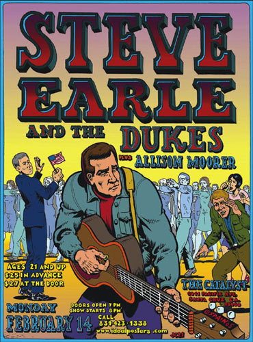 Spain Steve Earle And The Dukes Poster