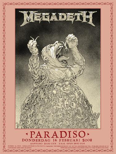 John Seabury Megadeth Poster