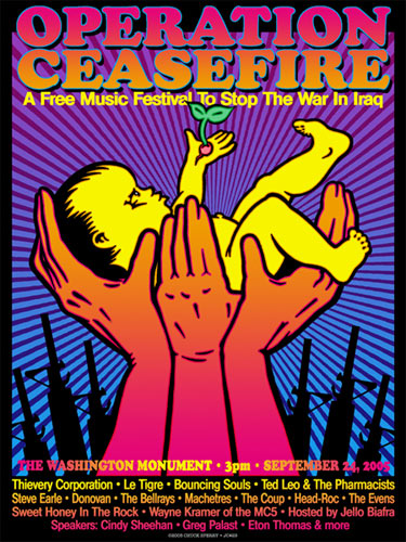 Chuck Sperry Operation Ceasefire Poster