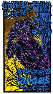 Allen Jaeger Cannibal Corpse Poster