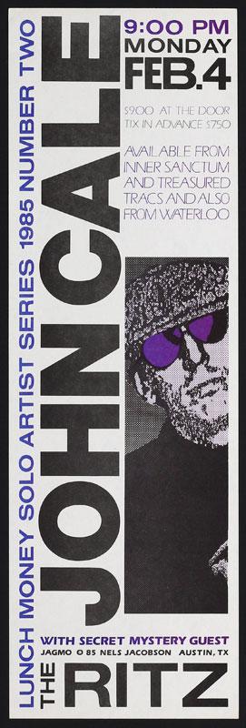 Jagmo - Nels Jacobson John Cale Poster