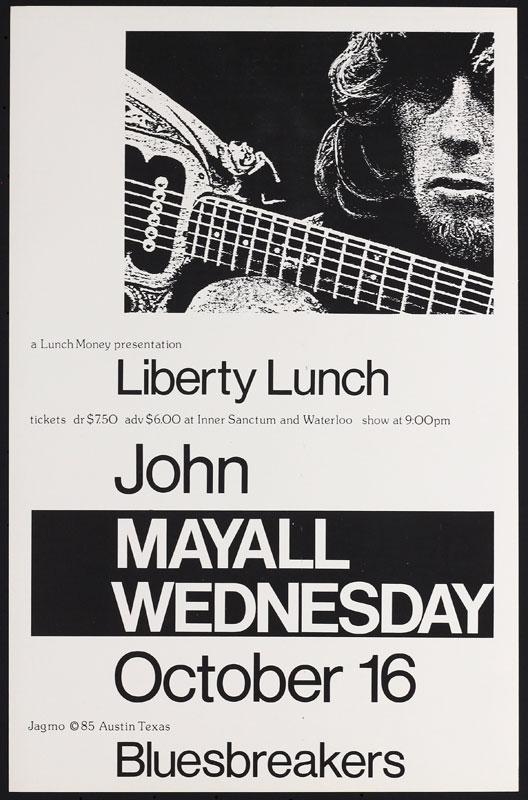 Jagmo - Nels Jacobson John Mayall Poster