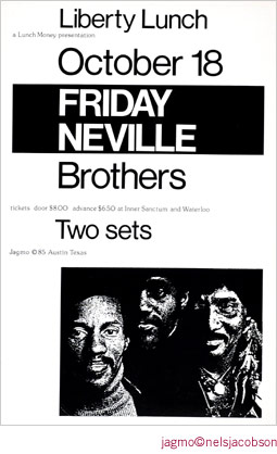 Jagmo - Nels Jacobson Neville Brothers Poster
