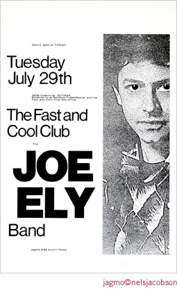 Jagmo - Nels Jacobson Joe Ely Poster
