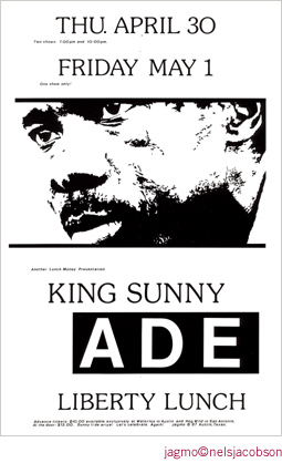 Jagmo - Nels Jacobson King Sunny Ade Poster