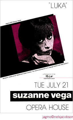 Jagmo - Nels Jacobson Suzanne Vega Poster