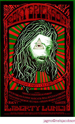Jagmo nels jacobson roky erickson liberty lunch poster for 13th floor elevators reunion