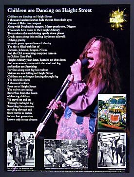 Janis Joplin - Children are Dancing on Haight Street - Unity Foundation 20th Anniversary Poster