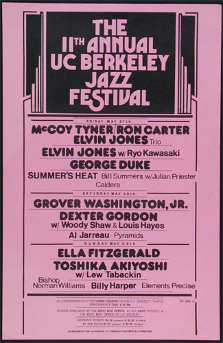 11th Annual UC Berkeley Jazz Festival Poster