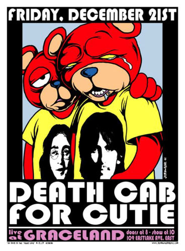 Jermaine Rogers Death Cab For Cutie Poster