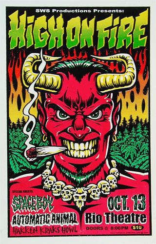 Jimbo Phillips High On Fire Poster