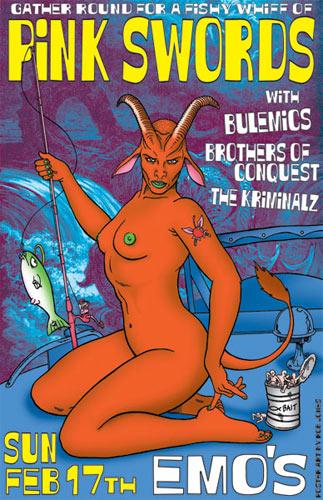 Rob Jones Pink Swords Poster