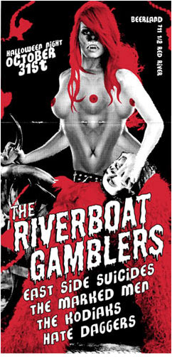 Rob Jones The Riverboat Gamblers Poster