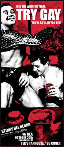 Rob Jones Stinky Del Negro Try Gay Poster