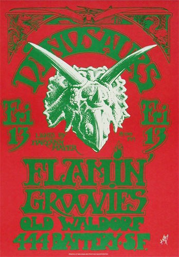 Alton Kelley Dinosaurs Poster