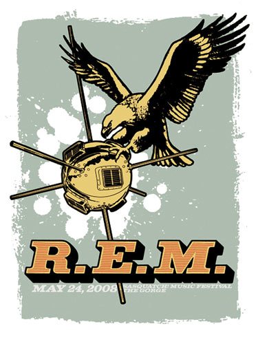 Mike King R.E.M. at the Gorge Amphitheatre REM Poster