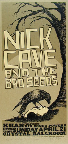 Gary Houston and Mike King Nick Cave And The Bad Seeds Poster