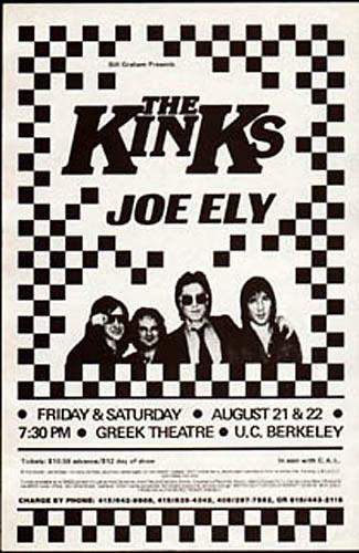 Rare 1981 BG Kinks Photo  Handbill