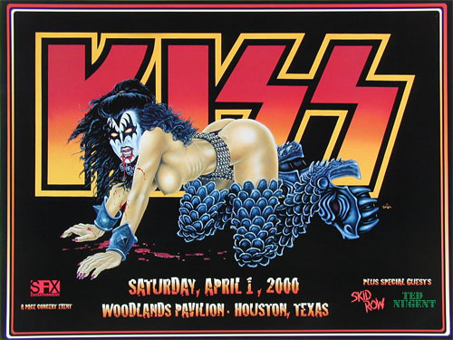 Tommy Pons Kiss Poster