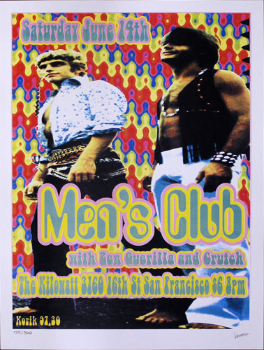 Frank Kozik Men's Club Poster